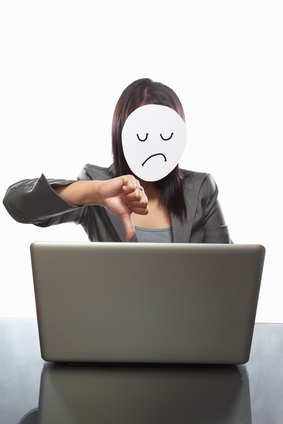 Dissapointed faceless businesswoman